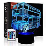 Bedoo Magic Bus Lamp 3D Illusion 16 Colours Touch Switch USB Insert LED Light Birthday Present and Party Decoration