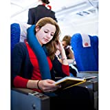HOMCA Aufblasbare Nackenkissen, Reisekissen Aufblasbar Bequem Schlaf und Weich Nackenstütze Kopfstütze Kissen für Flugzeug, Bus, Auto, Zug und Haushalt