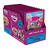 #9: Whiskas Wet Cat Food, Tuna in Jelly for Kittens, 85 g (Pack of 12)
