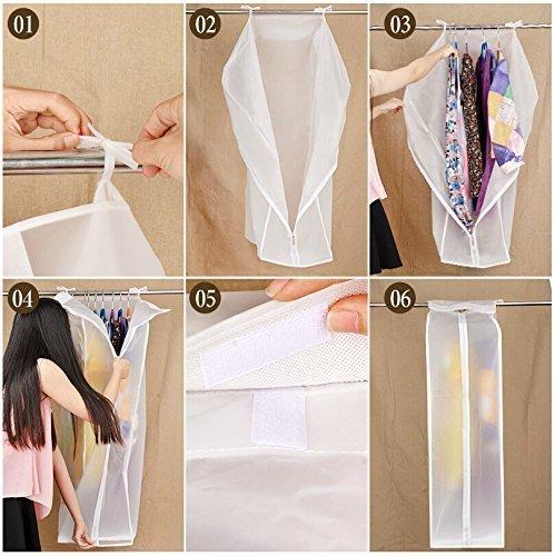 Mefe funda para la ropa, bolsas de 30* 60* 110CM fundas fundas para la ropa (transpirables, pack de 2