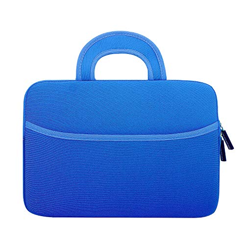 MoKo Universal Sleeve Hülle für 7-8 Zoll Amazon Tablet, Portable Neoprene Tasche für Fire HD 8 Kids Edition, Fire 7 Kids Edition 2017, Fire HD 8, Fire 7 2017, Kindle E-Reader, Marineblau