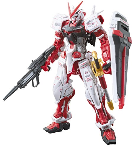 Bandai Hobby - Figure Gundam Astray Red 1 / 144 RG, Red and White Color BAN200634