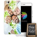 dessana Eigenes Foto Transparente Schutzhülle Handy Tasche Case für Huawei P9 Lite