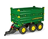 rolly toys S2612504 Franz Cutter John Deere Three Side Multi-Trailer