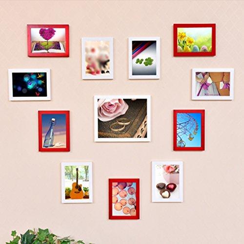 Mainstream-wohnzimmer (ASL Massivholz Foto Wand Kreative Kombination Rahmen Wand Kreative Liebe Herzförmige Schlafzimmer Mainstream Stil Wohnzimmer Home Mode Einfache Moderne Qualität ( Farbe : B ))