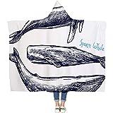 DOTBUY Decke Mit Kapuze Kuscheldecke, Plüschdecke Pelzdecke Decken mit Hoodie 3D Stil Design für Erwachsene Kind Couch Sofa oder Bett (200 x 150cm, G)