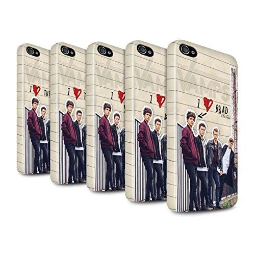 Officiel The Vamps Coque / Clipser Brillant Etui pour Apple iPhone 4/4S / Pack 5pcs Design / The Vamps Journal Secret Collection Pack 5pcs