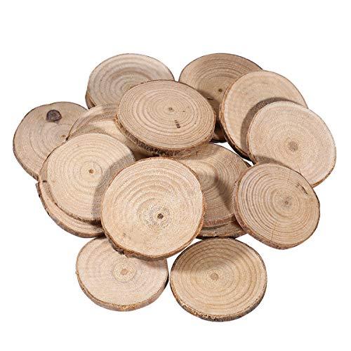 VORCOOL 20pcs 5-6cm Holz Log Scheiben Scheiben für DIY Handwerk Hochzeit Mittelstücke