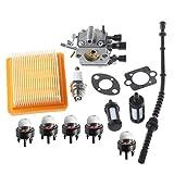 ouyfilters Vergaser mit Dichtung Air Filter Kraftstofffilter Line Primer Bulb RePower Kit für Stihl FS120FS200FS250FS300FS350Rasentrimmer Weedeater Brush Cutter