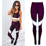 ♬ Legging Pantalon Longue Amincissant Comfort Sport Jogging Yoga Pilates Motif Multicolore Leggings de Compression Sports et Loisirs GongzhuMM