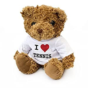 London Teddy Bears Wimbledon Roland Garros US Open - Oso de Peluche con Texto en inglés I Love Tenis