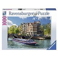Ravensburger-19138-Grachtenfahrt-in-Amsterdam Ravensburger Puzzle  19138 – Grachtenfahrt in Amsterdam – 1000 Teile -