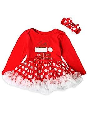 Longra Kleinkind Neugeborene Baby Mädchen Brief Dot Tutu Kleid Weihnachten Outfits Kleidung Set Baby Prinzessin...