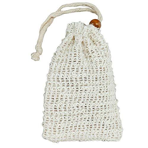 Rot Natürliche Seife (Steellwingsf Wiederverwendbare Drawstring waschbare Massage Schwamm Seife Tasche Schäumen Netz Mesh Beutel)