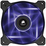 Corsair AF120 LED Quiet Edition 120mm Haut Débit LED Ventilateur de Boitier (Single Pack) Violet