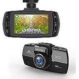 'DBPOWER 2K Full HD caméra pour voiture, 2,7150° 2304* 1296Dash Cam DVR Enregistreur vidéo Support Capteur G Hdr Vision nocturne Détecteur de mouvement, avec SD Card Slot, Ambarella A7, noire