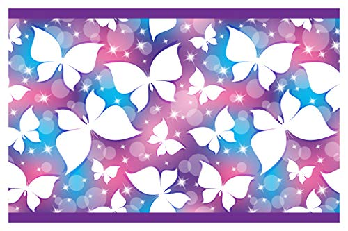 I-love-Wandtattoo Kinderzimmer Bordüre Borte Schmetterlinge Wanddekoration Kinder selbstklebend