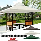 Essort 10x10ft Gazebo Top Canopy Replacement Cover, Jardin...