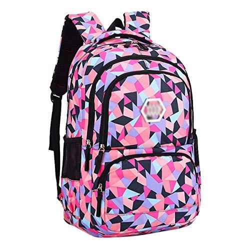 Xhhwzb zaino per scuola impermeabile per ragazze scuola media per scuola materna carino daypack per donne rombo (colore : nero, dimensioni : grande)