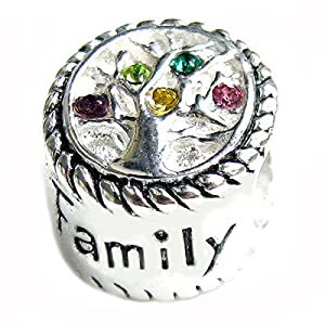 Sterling Silver Family Tree Of Life Love Bead For European Charm Bracelets by Queenberry