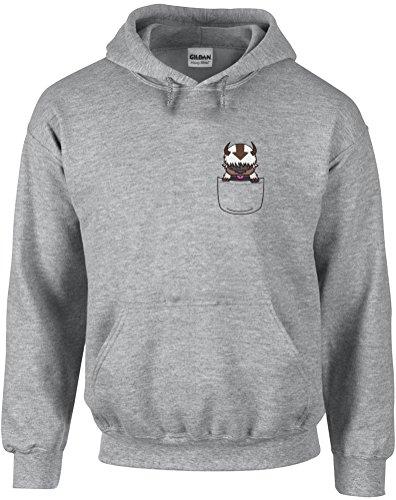 Appa Pocket, Gedruckt Hoody - Pullover - Grau/Transfer M = 96-101 cm
