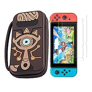 Silikon-Schutzhülle für Nintendo Switch Zelda, inkl. 2 Displayschutzfolien für Nintendo Switch, Konsole Joy-con Joy-Straps, wasserfest