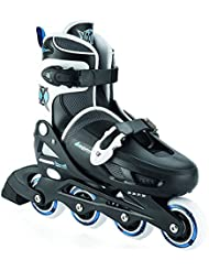 xootz Boy's Inline patines ajustables y acolchados, Niños, Inline Skates Adjustable and Padded, negro