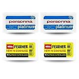 Feather Personna Lamette Lames de Rasage Feather/Platinum 40 Pièces
