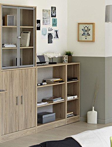 Wohnzimmer Sophal 27 Eiche 5x Regal Schrank Regalwand Vitrine Wohnwand Vitrinenschrank Arbeitszimmer Jugendzimmer - 4