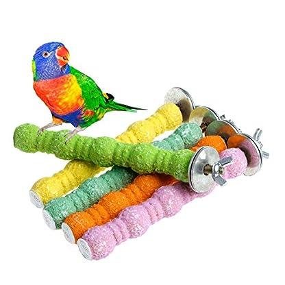 "Dairyshop Wooden Parrot Bird Cage Perches Stand Platform Pet Parakeet Budgie Rat Toys Hot (3.94""length) 1"