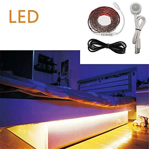 A-ZShengya LED-Licht mit 1.8m 3528 12V intelligentem menschlichem Bett, das das Schlafzimmer-Sensorlicht abfragt, wasserdicht -