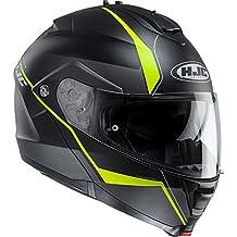 HJC is-Max II flip-up casco modular–Minas, color negro/amarillo