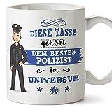 Polizisten Tasse/Becher / Mug Geschenk Schöne and lustige kaffetasse - Diese Tasse gehört Polizist im Universum - Keramik 350 ml