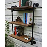 XIAOLIN American Style Rural Industrial Pipe in legno massello Vintage Do Old Bookshelf Wall Display Rack Rack Rack Partition Storage Dimensioni opzionali ( dimensioni : 80*22*100cm )
