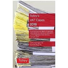 Tolley's VAT Cases 2018