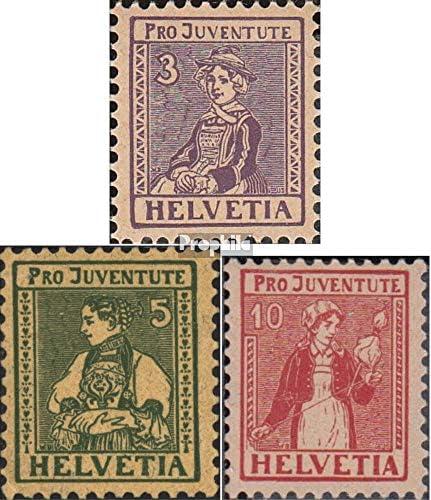 Suisse 133-135 (complète.Edition.) 1917 Pro Juventute (Timbres pour Les collectionneurs) Uniformes / Costumes | Distinctif