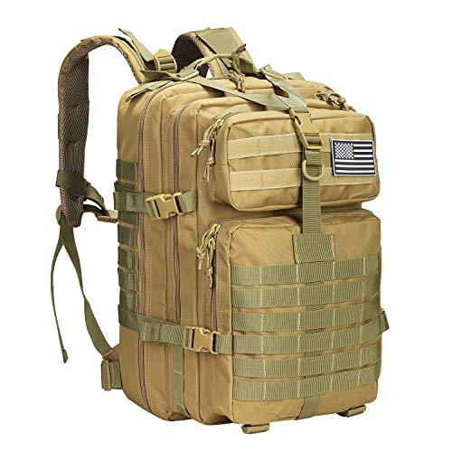 Prospo Rucksack, 40 l, Militärrucksack, für Jagd, Angeln, Campen, Trekking, Khaki