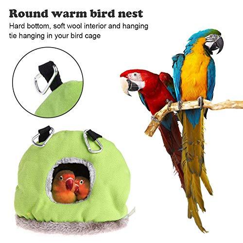 asterisknewly Nido Redondo Cálido Pájaro Nido Casa Perca Jaula para Loro Perico