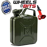 NEW HIGH QUALITY METAL POWER COATED INSIDE AN OUT JERRY CAN 5L LITRE CAN WITH SPOUT