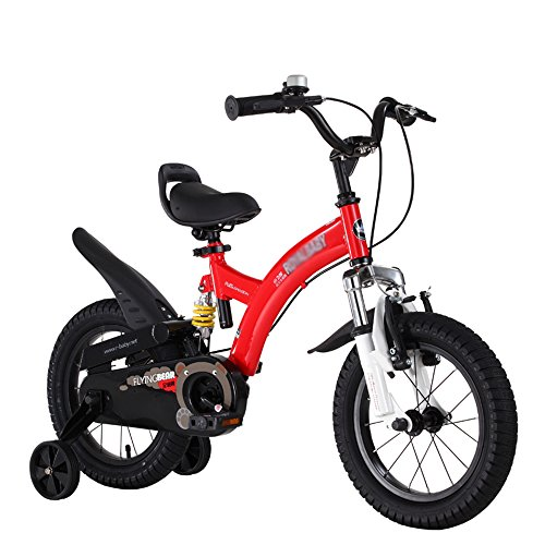 ZHIRONG Bicyclette Pour Enfants Rose Rouge Jaune Taille 12 Pouces, 14 Pouces, 16 Pouces, 18 Pouces Sortie Extérieure ( Couleur : Rouge , taille : 14 inch )
