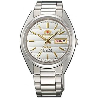 Orient Reloj Analógico para Mujer de Automático con Correa en Acero Inoxidable FAB00007W9
