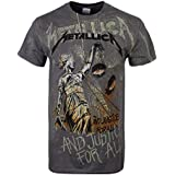 Metallica ... And Justice For All - Neon Backdrop Camiseta Gris marengo