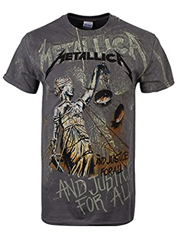 Metallica Shirt - Metallica Justice Neon Backdrop T-shirt anthracite