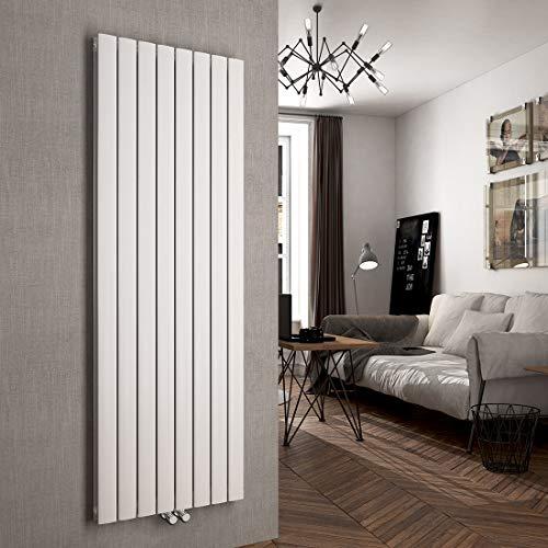 Vertikal Heizkörper Design Paneelheizkörper 1800x620mm Weiß flach Doppellagig Mittelanschluss Heizung
