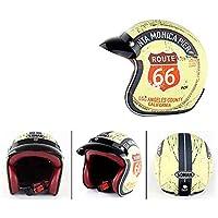 Casco De Casco De Moto Retro Clásico Harley Motocicleta Eléctrica Coche Casco Medio Hombres Y Mujeres Temporada Montar Cascos De Seguridad,XXL