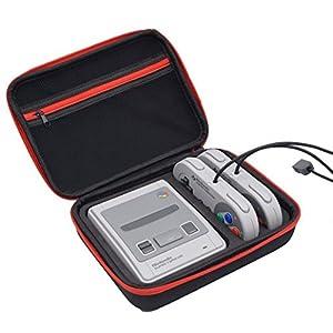 Super SNES Mini Tasche Nintendo Classic Tragetasche Shell Stoßfest Hard Case Hülle für Nintendo Classic Mini Konsole passend für 2 Controller und HDMI Kabel