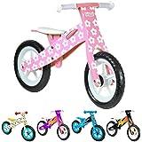 boppi® Bici sin pedales de madera para niños de 2-5 años - Rosa con Flores