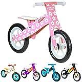Vélo en bois boppi® pour développer l'équilibre de 2 à 5 ans Fleur Rose
