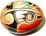 Egg-Shaker (Eier-Shaker), Special Native Painting, aus Mahagoni, zarter Klang für feine Akzente