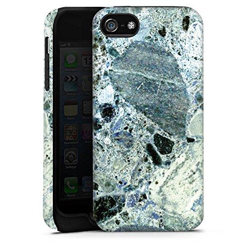 Apple iPhone X Silikon Hülle Case Schutzhülle Granit Marmor Look Marble Tough Case matt